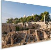 Ruïnes bij de oude handelsstad Carthago in de buurt van Tunesië Plexiglas 160x120 cm - Foto print op Glas (Plexiglas wanddecoratie) XXL / Groot formaat!