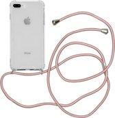 iMoshion Backcover met koord iPhone 8 Plus / 7 Plus / 6(s) Plus hoesje - Rosé Goud