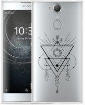 Sony Xperia XA2 Hoesje Abstract Moon Black