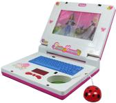 KINDER PICTURE ANIMATION PORTABLE LAPTOP COMPUTER TOY WITH MUSIC KEYBOARD & MOUSE ROZE MEISJE