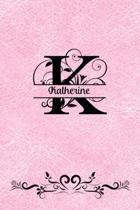 Split Letter Personalized Journal - Katherine