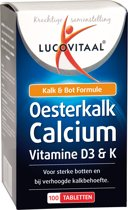 Lucovitaal Oesterkalk Calcium Vitamine D3 & K Voedingssupplement - 100 tabletten