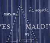 Dutch Wallcoverings Vliesbehang maritiem - blauw
