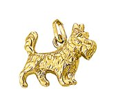 The Jewelry Collection Hanger Terrier - Geelgoud (14 Krt.)