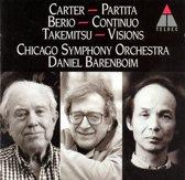 Carter: Partita; Berio: Continuo; Takemitsu: Visions