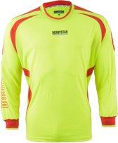 Derbystar Aponi Sportshirt - Maat 116  - Unisex - geel/rood