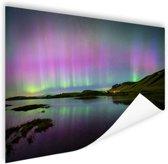 Waanzinnig noorderlicht in IJsland Poster 150x75 cm - Foto print op Poster (wanddecoratie woonkamer / slaapkamer)