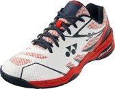 Yonex badmintonschoenen Power Cushion 56 wit/rood unisex maat 40