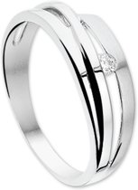 The Jewelry Collection Ring Diamant 0.05 Ct. - Witgoud