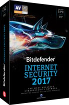 Bitdefender Internet Security 2017 - Nederlands / Frans - 5 Apparaten - 1 Jaar - Windows