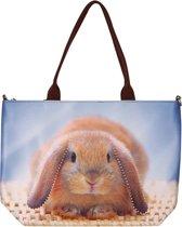 Handtas groot konijn-