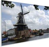 Historische molen in de Nederlandse stad Haarlem Plexiglas 60x40 cm - Foto print op Glas (Plexiglas wanddecoratie)