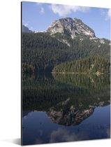 Bergen en dennenbossen in het Montenegrijns Nationaal park Durmitor Aluminium 20x30 cm - klein - Foto print op Aluminium (metaal wanddecoratie)