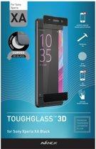 AVANCA Gebogen Beschermglas Sony Xperia XA Zwart - Screen Protector - Tempered Glass - Gehard Glas - Curved Glass - Protectie glas