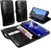 Tuff-Luv - Leren Portemonnee Hoesje - Samsung Galaxy S9 Plus - met Screenprotector - Zwart