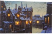 Led Schilderij Artprint Stad Warm Wit