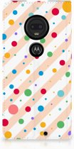 Motorola Moto G7 | G7 Plus Standcase Hoesje Design Dots