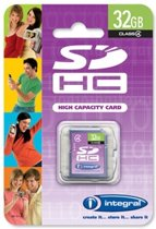 Integral 32GB Class 4 SDHC Card 32GB SDHC flashgeheugen