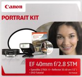 Canon EF 40mm f/2.8 STM + 270EX II + Reflector + Portret DVD Kit