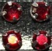Gutermann Buisje opnaaiparels [ strass ]  7 mm. 10 stuks rood. 4545