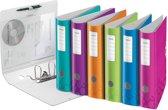 5x Leitz WOW ordner Active, geassorteerde kleuren, rug van 7,5cm