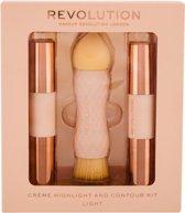 Makeup Revolution - Crème Highlight and Contour Kit - Light