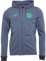 New Balance Celtic Glasgow Elite Travel Hoodie - Maat  XL - Kleur Mid Grey/Flue Green