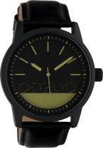 OOZOO Timepieces Zwart/Groen horloge  (45 mm) - Zwart