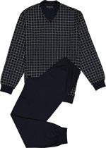 Schiesser Heren Pyjama - Donkerblauw - V Hals - Maat XL