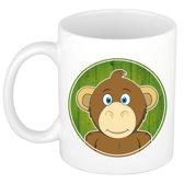1x Apen beker / mok - 300 ml - aap dieren bekers voor kinderen