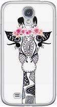 Samsung Galaxy S4 siliconen hoesje - Giraffe