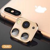 voor iphone X/Xs/Xs Max voorzet camera cover iPhone 11 pro stijl - goud