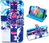 Tiger wallet case hoesje Samsung Galaxy S5 mini