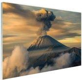 Vulkaan in Indonesie Glas 30x20 cm - klein - Foto print op Glas (Plexiglas wanddecoratie)