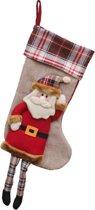 JAP Kerstmis sokken decoratie - Muur openhaard sok - Kerstdecoratie binnen - Kerstman