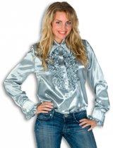 Rouches blouse zilver dames 40 (l)