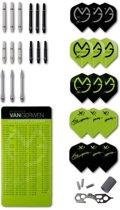 Michael van Gerwen dart accessoire set - shafts,flights,reparatie