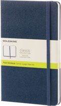 Moleskine Classic Notebook - Large - Plain - Hard Cover - Sapphire Blue