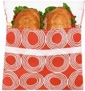 Lunchskins Sandwich Bag Large - Sunset Circles