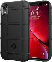 Full Coverage Shockproof TPU Case voor iPhone XR (zwart)