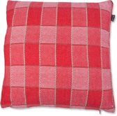 In The Mood Sierkussen Tweed Patchwork - 50x50 cm - Rood