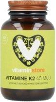 Vitaminstore - Vitamine K2 45 mcg (MenaQ7) - 60 capsules - Voor het behoud van sterke botten