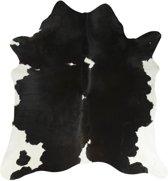 vloerkleed koe zwart/wit