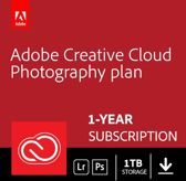 Adobe Creative Cloud Photography Plan - 1 Apparaat - 1 Jaar - 1TB Cloudopslag - Nederlands / Engels - Windows / Mac Download