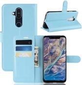 Nokia 8.1 Hoesje - Book Case - Lichtblauw