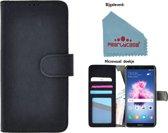 Pealycase® Wallet Bookcase voor Huawei P20 Pro - Zwart Fashion Hoesje