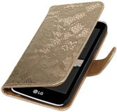 Samsung Galaxy S7 Edge G935F Goud | Lace bookstyle / book case/ wallet case Hoes  | WN™