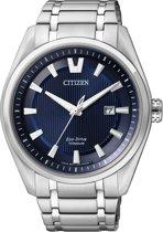Citizen Eco Drive CA0350-51M -Super Titanium - Horloge - 45 mm - Staal/Blauw