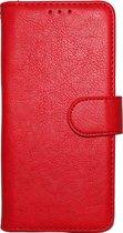 Samsung Galaxy S10 Plus Hoesje - Hoge Kwaliteit Portemonnee Book Case - Rood