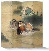 Fine Asianliving Kamerscherm Scheidingswand 4 Panelen Oosterse Eenden